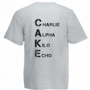 Heather-Grey C.A.K.E t-shirt