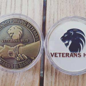 Veterans Hub challenge coin